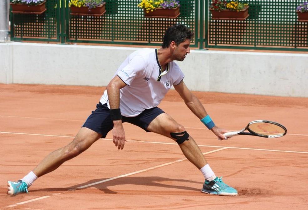 Thomaz Bellucci voltou a jogar após quase um mês — Foto: ITF
