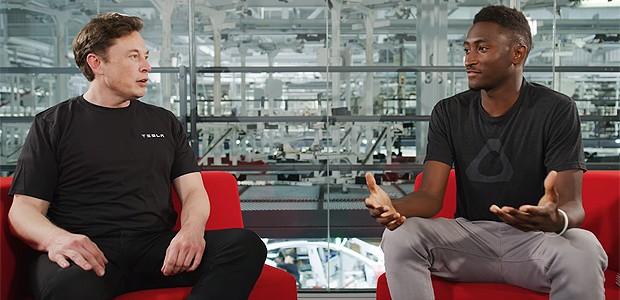 Elon Musk e Marques Brownlee (Foto: divulgação)