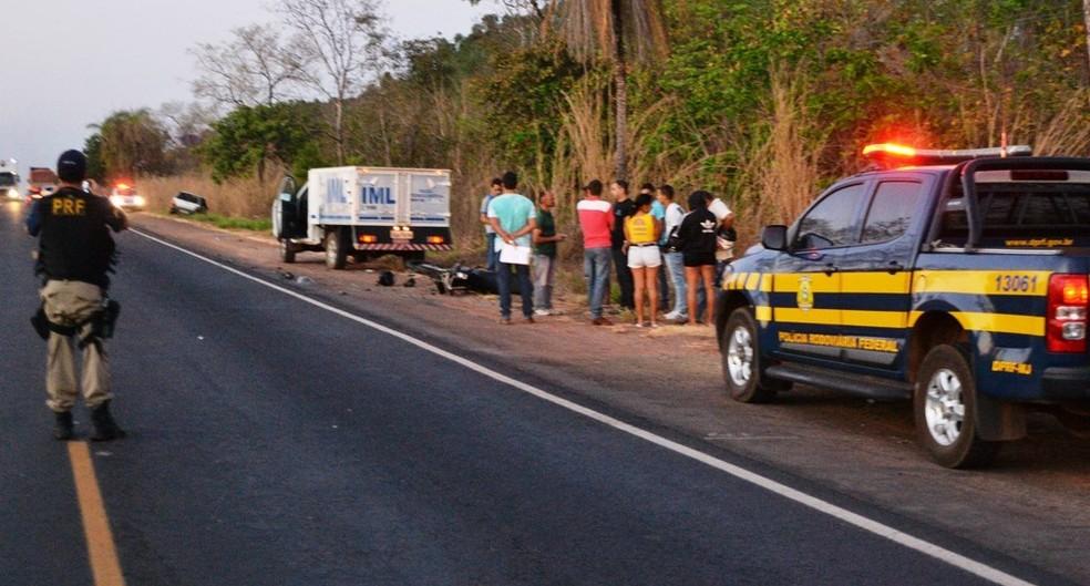 Acidente ocorreu próximo de Pugmil, na BR-153 (Foto: Surgiu/Divulgação)