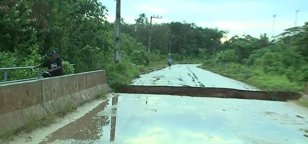 Rua da Vitória dá acesso a MA-202 e liga os municípios de São José de Ribamar e Paço do Lumiar — Foto: Reprodução/TV Mirante