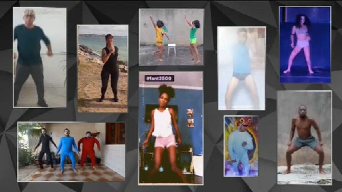 VÍDEO: telespectadores reproduzem coreografia da nova abertura do Fantástico