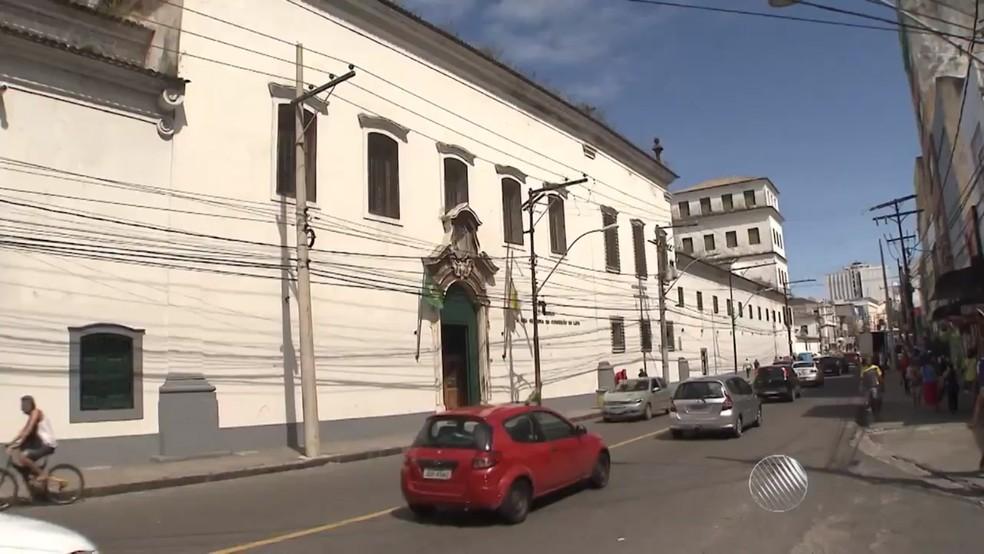 Convento da Lapa, onde estão restos mortais de Joana Angélica — Foto: Reprodução/TV Bahia