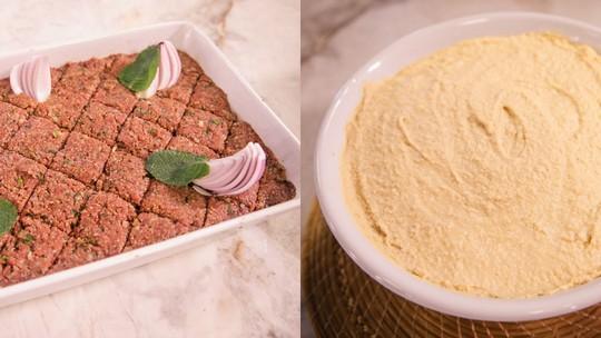 Receitas árabes de quibe cru e hommus tahine