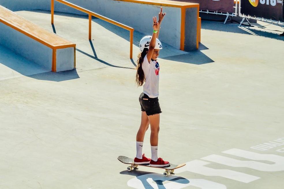 Rayssa Leal está na 2ª colocação no ranking mundial — Foto: Reprodução / STU OPEN
