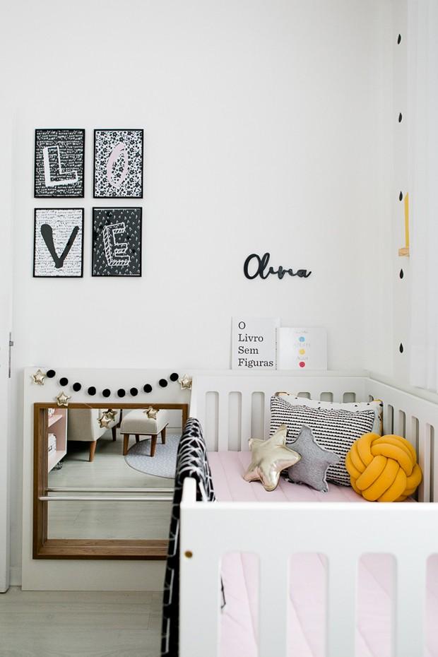 Décor do dia: preto e branco no quarto de bebê (Foto: Divulgação)