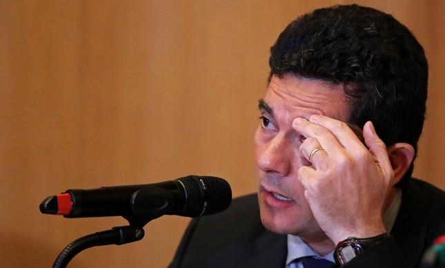 O juiz Sergio Moro em entrevista coletiva