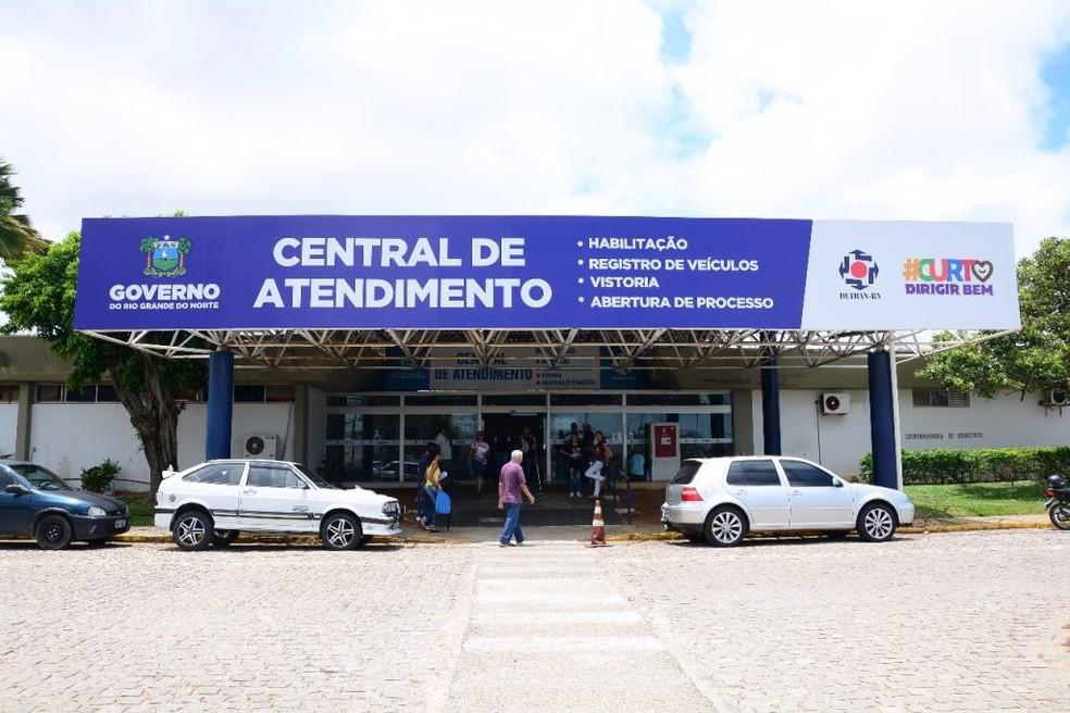 Sede do Detran em Natal reinicia atendimento presencial na segunda-feira (17) — Foto: Divulgação