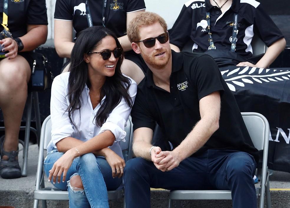 Príncipe Harry e a Meghan Markle, assistem a um evento de tênis de cadeira de rodas em Ontário, no Canadá, em 25 de setembro de 2017 (Foto: Mark Blinch/ Reuters)