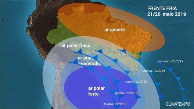 mapa-tempo-clima-frio (Foto: Reprodução Climatempo)