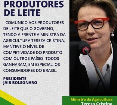 bolsonaro-postagem-redes-leite (Foto: Reprodução/Twitter)
