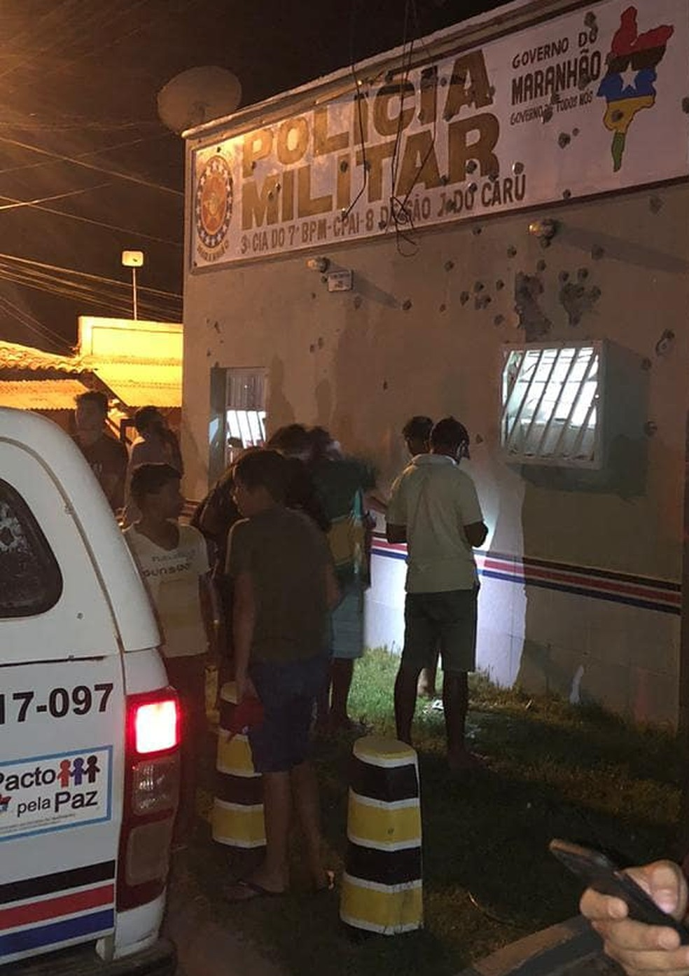 Criminosos explodem agência bancária na cidade de São João do Carú. — Foto: Divulgação/Redes Sociais.