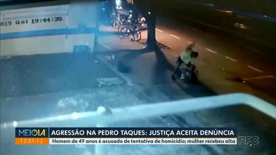 Justiça aceita denúncia contra homem acusado de espancar e esfaquear mulher em avenida de Maringá