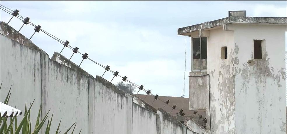 Presídio Desembargador Flóscolo da Nóbrega, no bairro do Roger, em João Pessoa — Foto: Reprodução/TV Cabo Branco