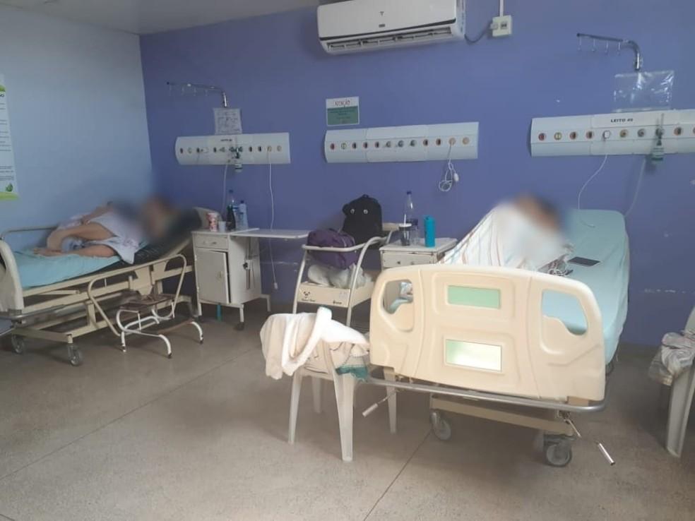 Sala 'rosa' que grávidas estão internadas, em Manaus. — Foto: Arquivo pessoal