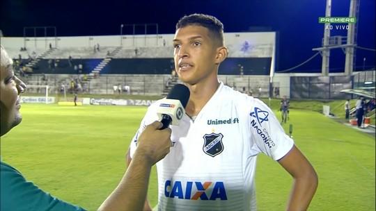 Autor do segundo gol, Matheus fala da vitória do ABC contra Oeste