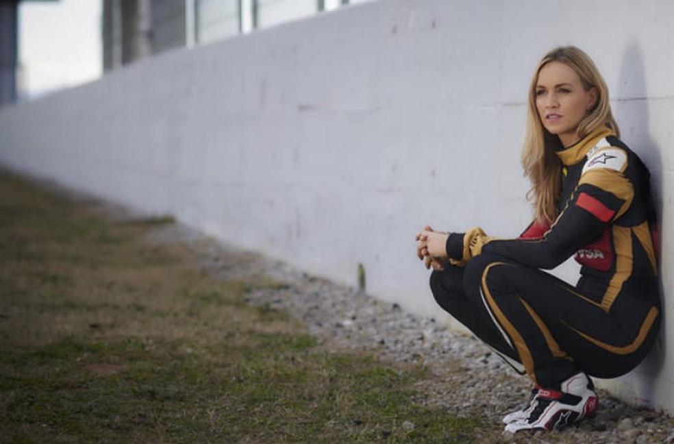Carmen Jordá foi reserva da Lotus na Fórmula 1 e causou polêmica em 2018 — Foto: Reprodução/Instagram