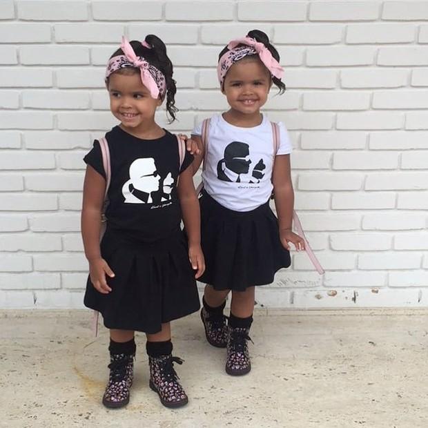 As gêmeas Rafaella e Sophia, filhas de Dentinho e Dani Souza (Foto: Reprodução/Instagram)