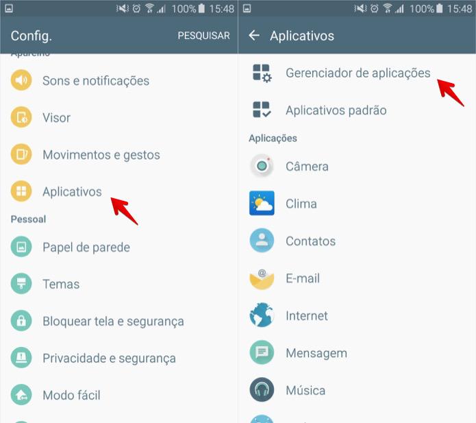 Abra as configurações de aplicativos (Foto: Reprodução/Thássius Veloso)