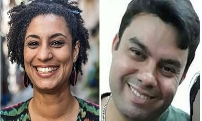 Vereadora Marielle Franco e seu motorista Anderson Gomes. Foto: reprodução/internet