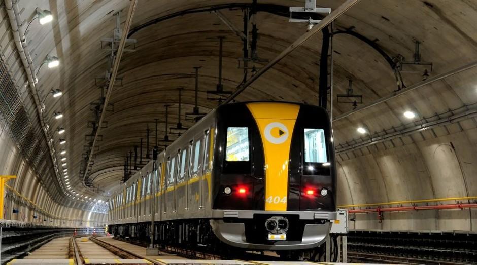 Trem da linha 4 do metrô de SP: empreiteiras médias lideram obras de expansão (Foto: Divulgação)