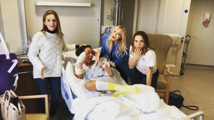 Geri Halliwell, Emma Bunton e Melanie C visitam Mel B no hospital (Foto: Reprodução/Instagram)
