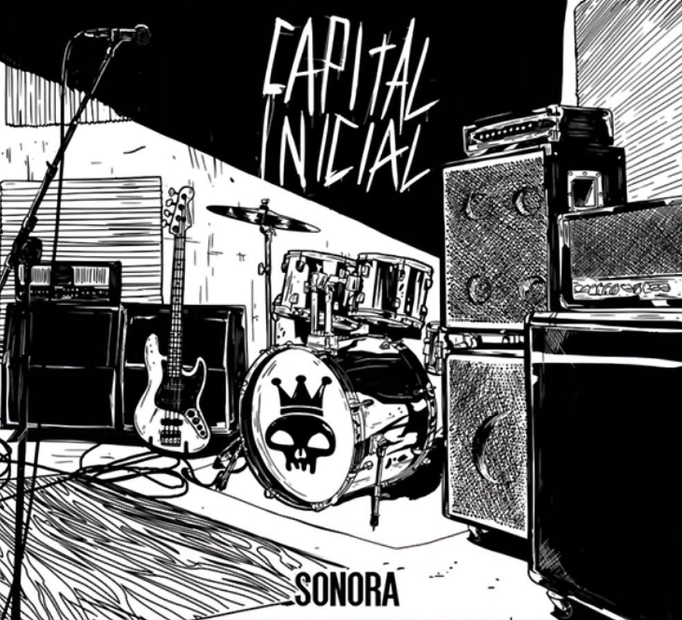 Capa da edição em CD, em formato 'digipack', do álbum 'Sonora', do grupo Capital Inicial — Foto: Ilustração de João Gabriel Jack
