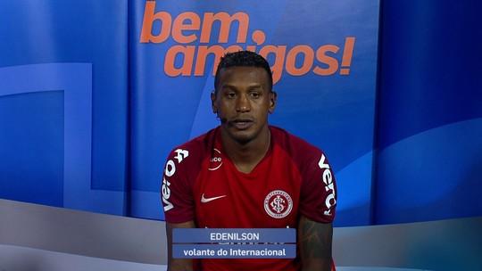"""Autor do gol da vitória do Internacional, Edenílson comemora: """"Nosso time foi feliz na jogada"""""""