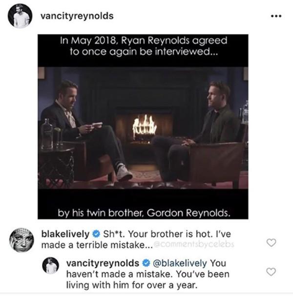 Ryan Reynolds e Blake Lively (Foto: Instagram)
