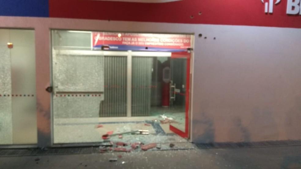 Grupo armado tenta assaltar banco em Pedro Alexandre (Foto: Divulgação/SSP-BA)