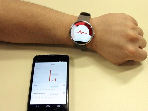 Informações coletadas por relógio inteligente podem ajudar na interpretação do estado do usuário (Foto: Divulgação/Reinaldo Mizutani (ICMC))