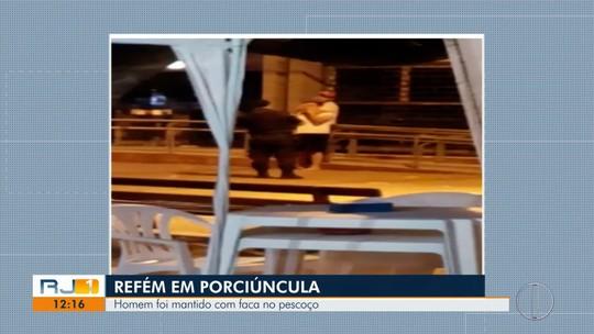 Homem é detido após fazer jovem refém no Centro de Porciúncula, no RJ