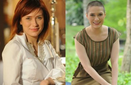 Rachel Ripani também precisou ficar careca. Foi para a novela 'Caras & bocas', de 2009 TV Globo