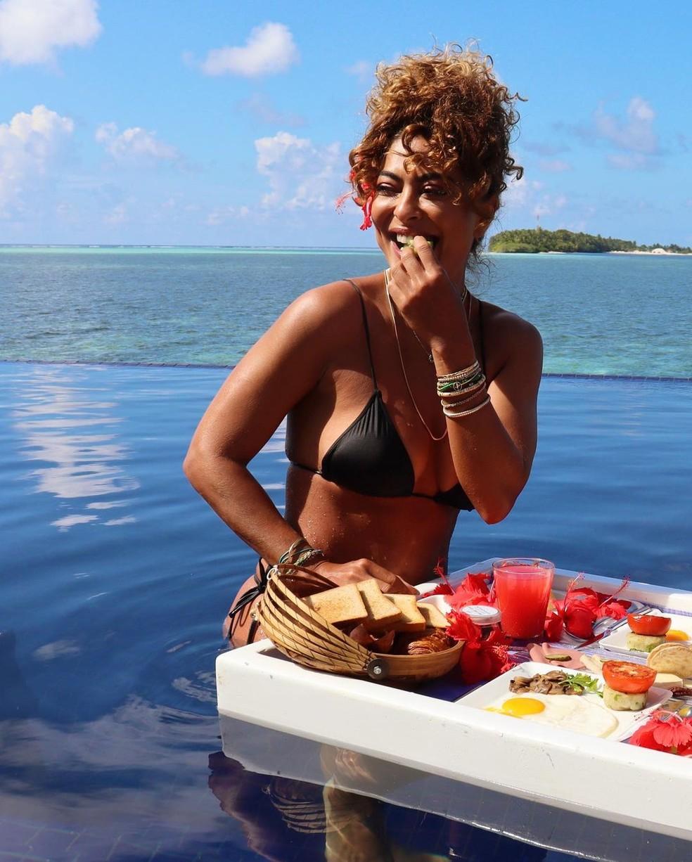 Juliana Paes nas Maldivas — Foto: Reprodução/Instagram