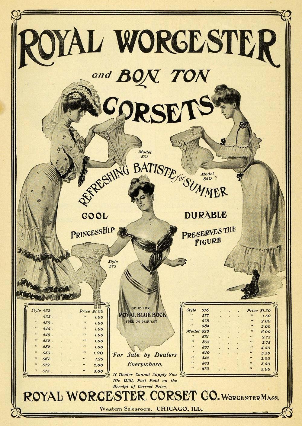 Peça publicitária de moda do início do século 20 (Foto: Reprodução)