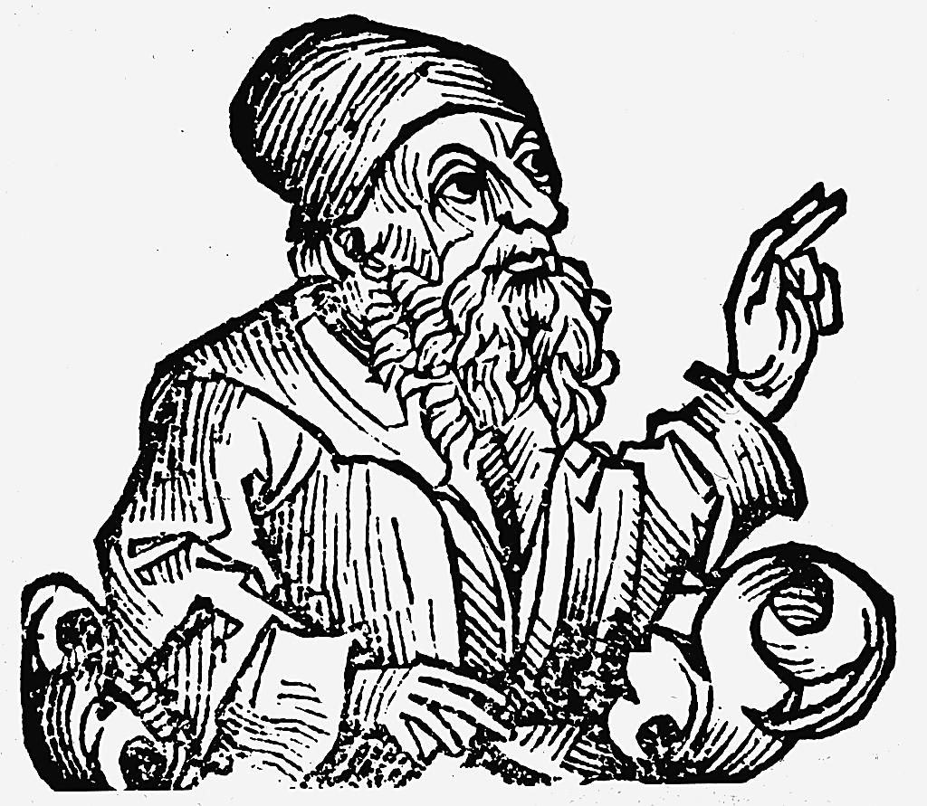 Representação de Anaxágoras feita em 1493 presente no livro Crônica de Nuremberg (Foto: Wikimedia Commons)