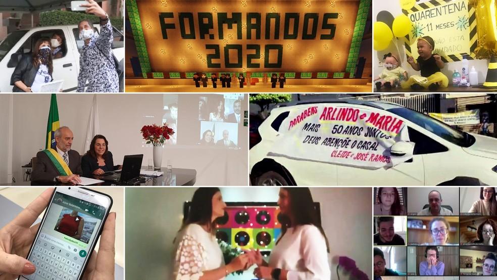 Criatividade para festejar diferentes ocasiões marca histórias positivas da quarentena — Foto: Arquivo pessoal