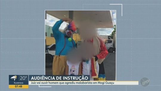 Justiça faz 1ª audiência para ouvir réu  do caso da morte do palhaço malabarista em Mogi Guaçu