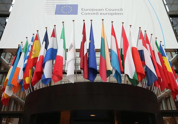 Bandeiras dos membros da União Europeia  (Foto: Dan Kitwood/Getty Images)