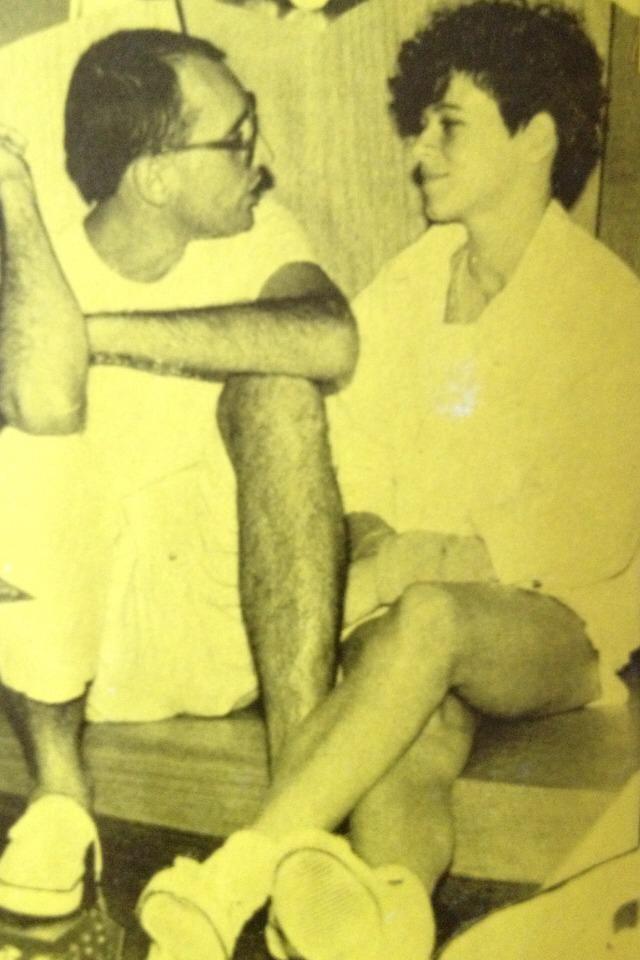 Julio Barroso e Taciana Barros. Este é o último registro do músico e poeta que morre em 1984 (Foto: Arquivo Pessoal Taciana Barros)