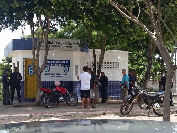 Guarda municipal é morto a tiros na Zona Norte de Natal (Foto: Sérgio Henrique Santos/Inter TV Cabugi)