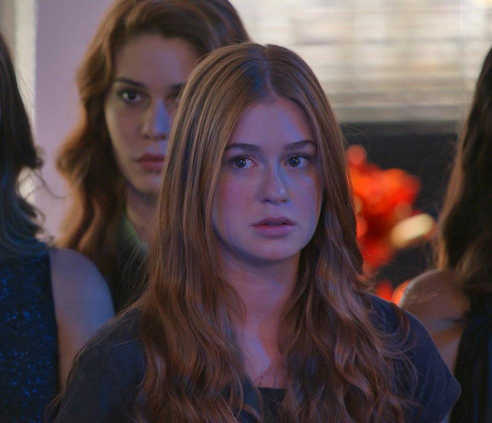 Eliza chega atrasada para eliminatória do concurso — Foto: TV Globo