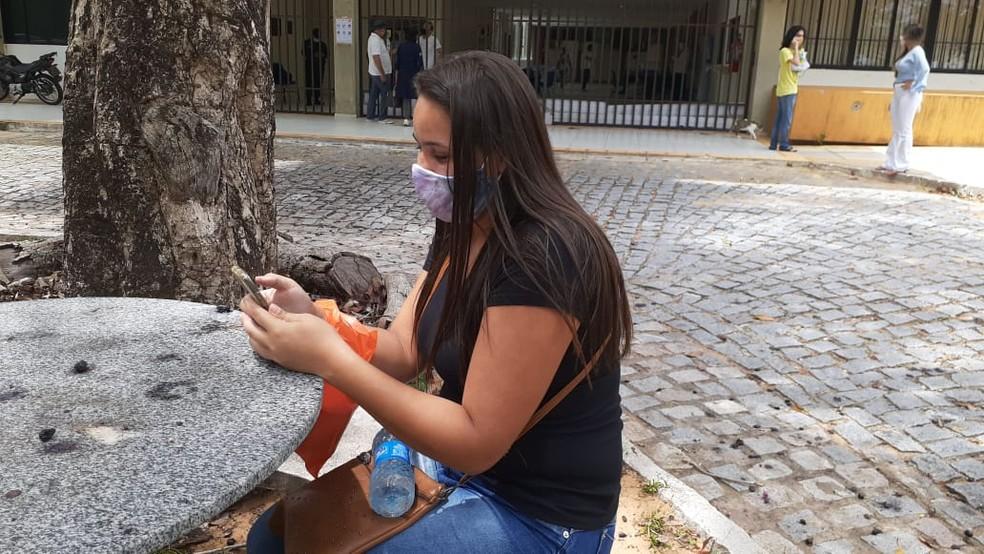 ENEM 2020 - Natal, 17/01/2021 - Maria Alessandra Silva de Lima,  27 anos, faz Enem 2020 pela segunda vez.  — Foto: Julianne Barreto/Inter TV Cabugi