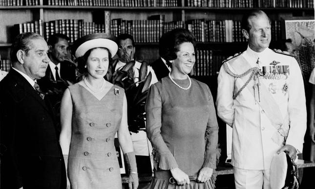 O casal real em Brasília