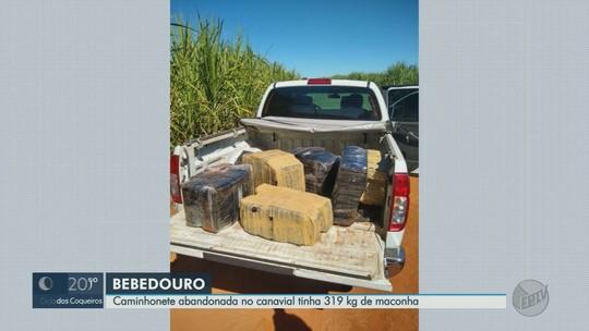 Caminhonete com 319 kg de maconha é encontrada em estrada rural de Bebedouro, SP
