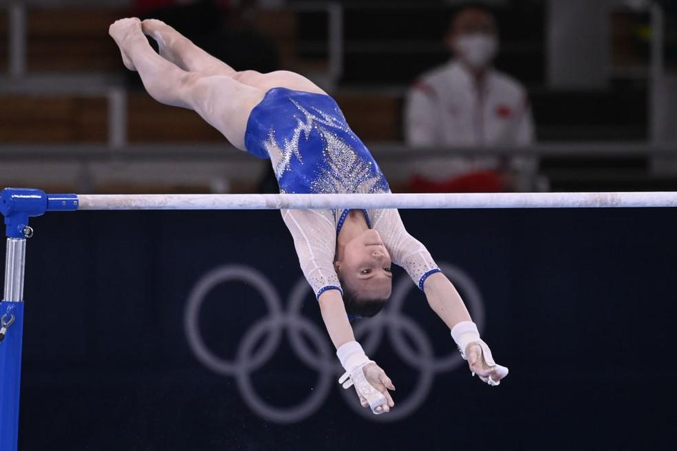 Vladislava Urazova nas Olimpíadas — Foto:  Stringer/Anadolu Agency via Getty Images