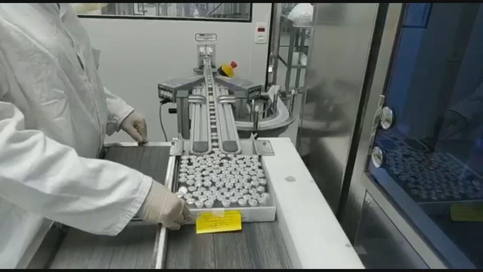 Instituto Butantan retoma produção de doses da Coronavac  — Foto: Reprodução/TV Globo