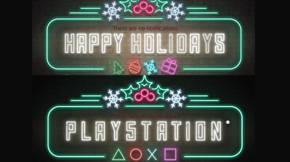 O tema de natal do PS4 pode esconder um easter egg sobre o PS5 — Foto: Divulgação / Sony