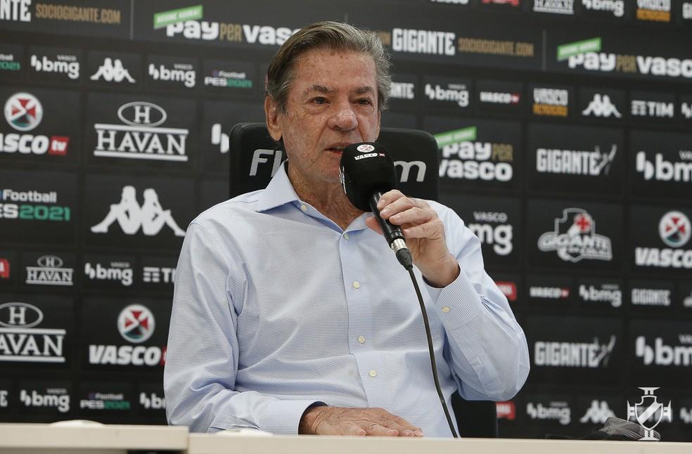 Jorge Salgado, presidente do Vasco — Foto: Rafael Ribeiro/Vasco