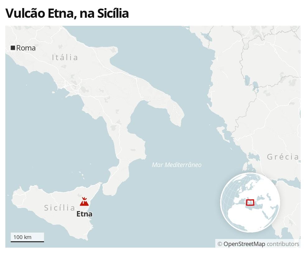 Vulcão Etna, na Sicília — Foto: G1 Mundo