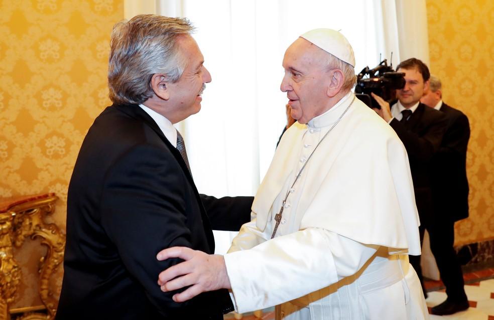 Papa Francisco encontra Alberto Fernandez no Vaticano | Mundo | G1
